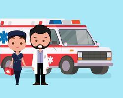 Ambulância de Emergência vetor