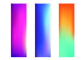 Banners de conjunto gradiente vetor