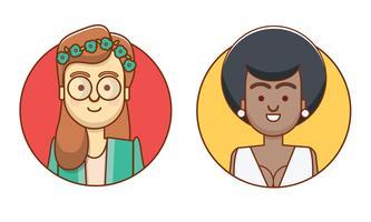Personagens de ícones femininos