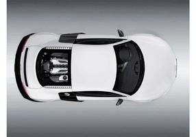 Audi r8 vista de cima vetor