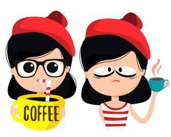 Personagem de amante de café vetor