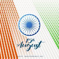 Fundo de celebração do dia da independência da Índia com roda de Ashoka vetor