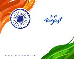 Fundo do conceito de dia da independência indiana vetor