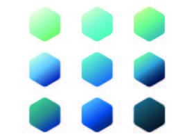 Coleção Blue Gradients vetor