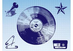 Imagens de música vintage vetor