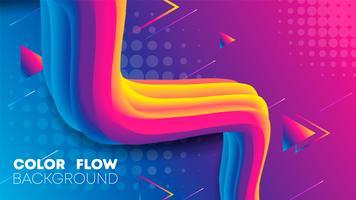Cor de gradiente líquido dinâmico fundo, gradiente fluido vetor