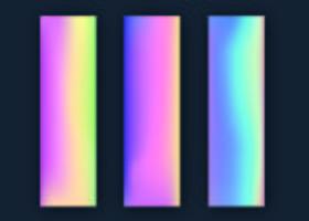 Coleção de gradientes de holograma vetor