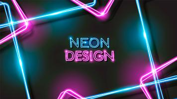 Design de fundo preto brilhante abstrato Neon