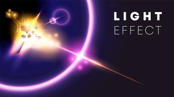 ilustração de efeito de luz