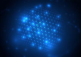 Abstratos círculos brilhantes e partículas vetor
