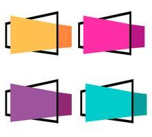 Projeto de coleção colorida bandeira abstrata vetor