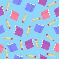 padrão de livro com lápis vetor