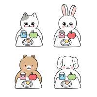 animais na hora do almoço