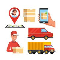 Conjunto de objetos de serviço de entrega