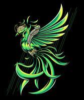 ilustração verde pheonix