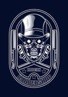 ilustração do crânio do barbeiro camiseta