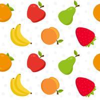 Padrão sem emenda de frutas vetor