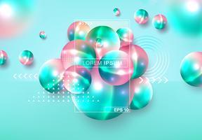 Esferas 3D abstraem base
