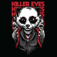 design de camiseta de ilustração vetorial de panda feminino