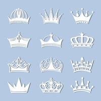 Coleção de coroas vintage
