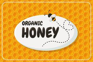 Rótulo de fundo geométrico do favo de mel