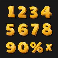 Números dourados para outdoors com desconto vetor