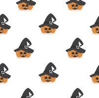 abóbora de halloween usando padrão de chapéu de bruxa