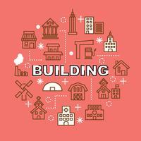 construção de ícones de contorno mínimo