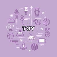 ícones de contorno mínimo de brinquedo