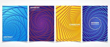 Formas geométricas e design colorido padrões mínimos. vector eps10