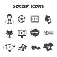 símbolo de ícones do futebol vetor