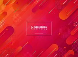 Página de destino de tecnologia de linha de faixa de cores vivas
