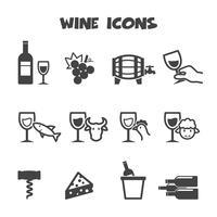símbolo de ícones de vinho vetor