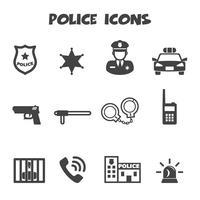 símbolo de ícones da polícia vetor