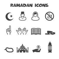 símbolo de ícones do ramadã vetor