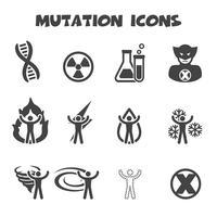 símbolo de ícones de mutação vetor