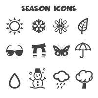 símbolo de ícones de temporada