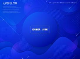 Página de destino da Web de tecnologia de cores vivas azuis vetor
