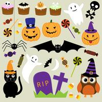 Conjunto de vetores de elementos do Halloween