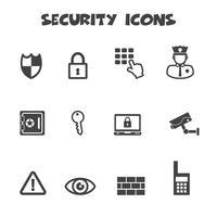 símbolo de ícones de segurança vetor