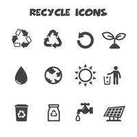 símbolo de ícones de reciclagem