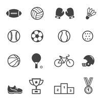 ícones de esporte e equipamento vetor