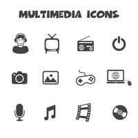 símbolo de ícones multimídia