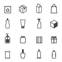 símbolo de ícones de embalagens