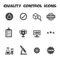 ícones de controle de qualidade vetor