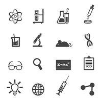 ícones de ciência e laboratório