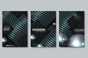 Design da capa abstrata escura