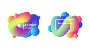 Conjunto de modelo de blob bolha gradiente moderno vetor