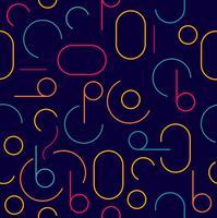 padrão de círculo sem costura colorida retrô