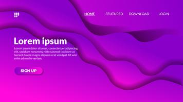 Fundo de recorte de papel moderno onda violeta gradiente